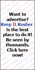 Advertise with Keep It Kosher